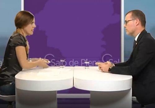 Entrevista a Josep M. Cruset al programa 'Saló de Plens' de Tac12